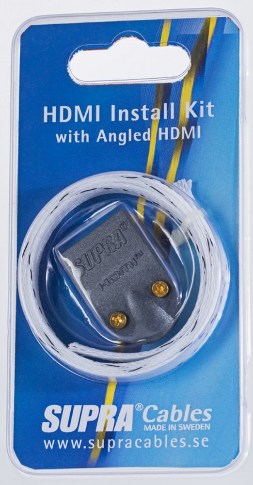 Supra HDMI Install Kit with angled HDMI